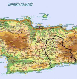 Γεωγραφικά Όρια Ι. Μητρόπολης Αρκαλοχωρίου, Καστελλίου και Βιάννου